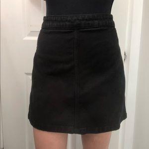 Wilfred Free Black Denim Mini Skirt